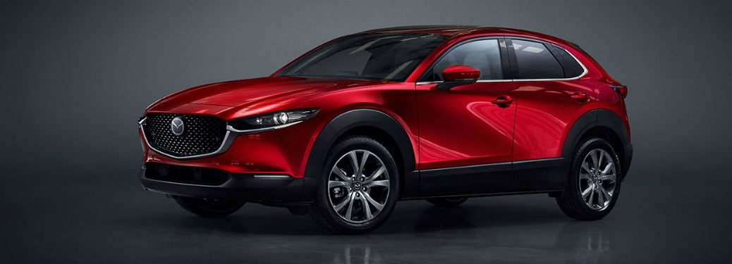 2020 Mazda CX-30 red exterior front fascia driver side parked