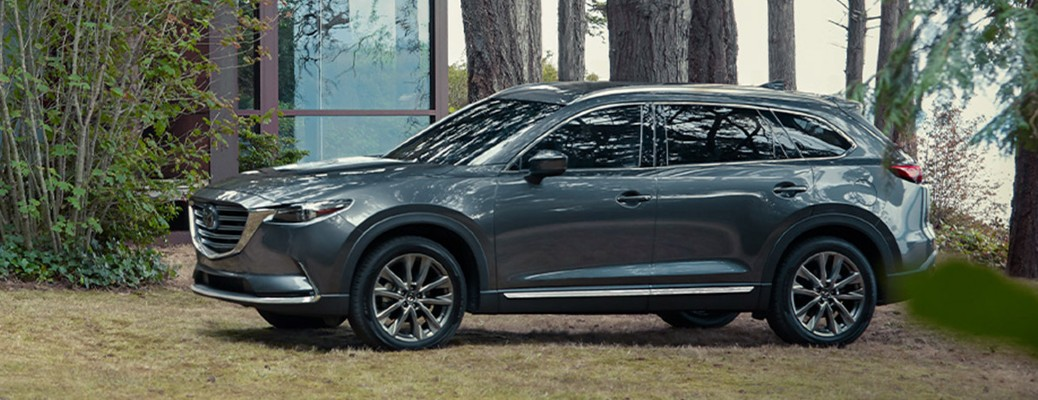 2020 Mazda CX-9 grey exterior driver side front parked in yard