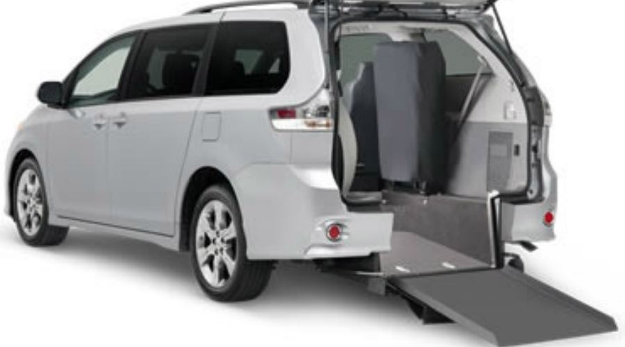Rear ramp in a Toyota Mobility Sienna