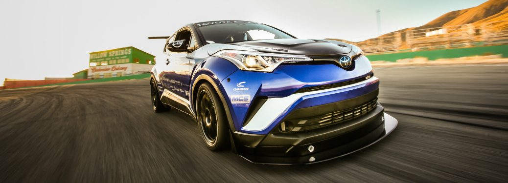 2018 Toyota C-HR R-Tuned driving on test track