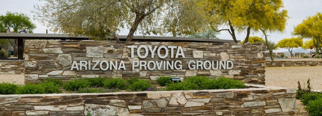 Toyota Arizona Proving Ground sign