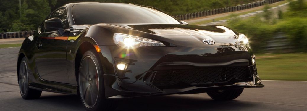 Closeup of a black 2019 Toyota 86 TRD Special Edition