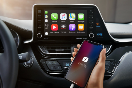 Apple CarPlay in the 2019 Toyota C-HR