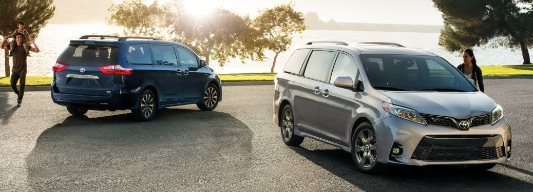 Two 2019 Toyota Sienna models side by side