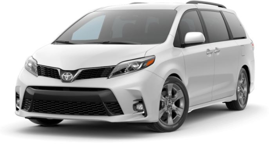 2019 Toyota Sienna in Super White