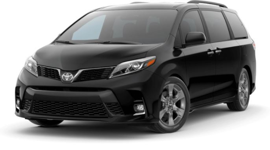 2019 Toyota Sienna in Midnight Black Metallic