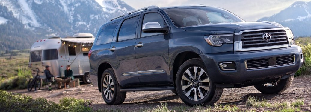 2019 Toyota Sequoia at a campsite