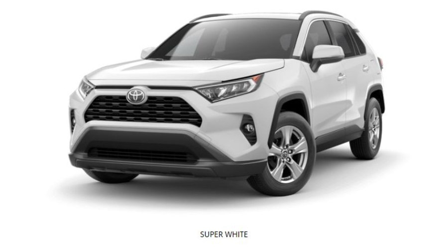 2019 Toyota RAV4 in Super White