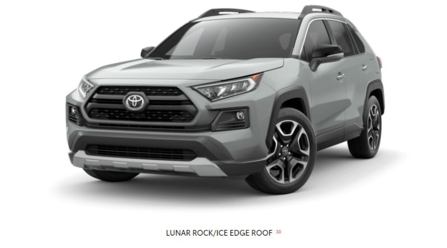 2019 Toyota RAV4 in Lunar Rock/Ice Edge Roof