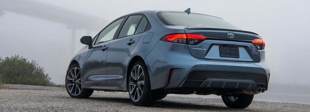 Rear side view of a 2020 Toyota Corolla