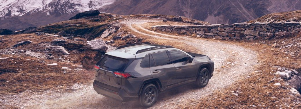 2020 Toyota RAV4 TRD Off-Road driving through mountains