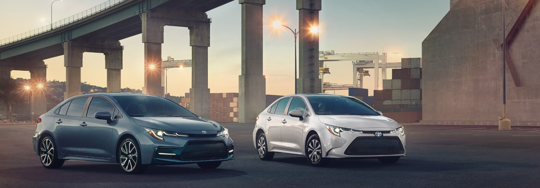 Exterior Colors Available with New Corolla Sedan