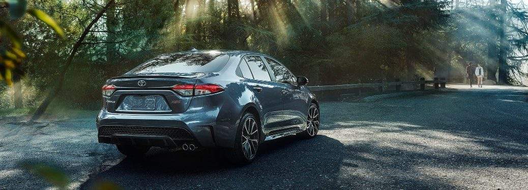2020 Toyota Corolla Hybrid in wooded area