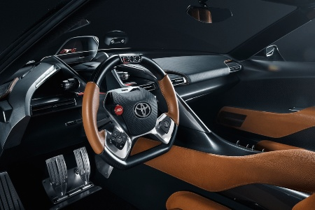 Cockpit view in the 2020 Toyota Supra