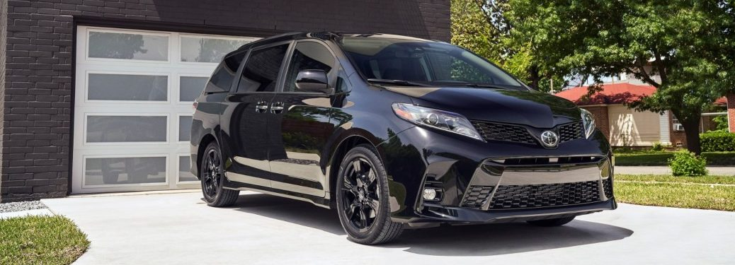 2020 Toyota Sienna Nightshade Edition parked outside home