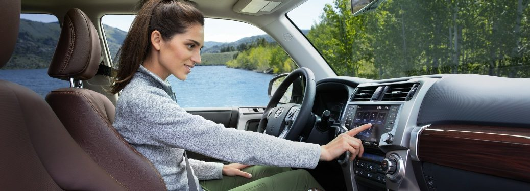 Woman behind the wheel of a 2020 Toyota 4Runner