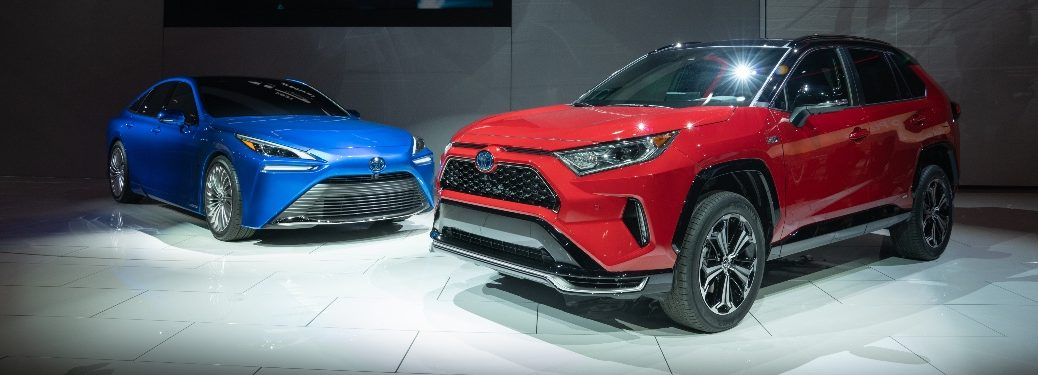 2021 RAV4 Prim and Mirai at Los Angeles Auto Show