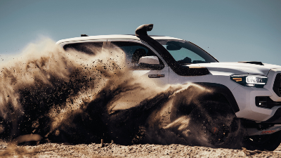 2020 Tacoma TRD Pro throwing up dirt while cornering