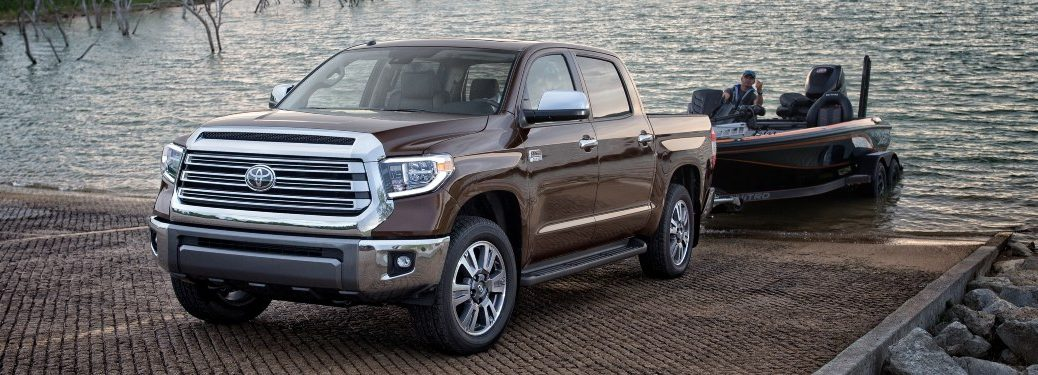 2020 Tundra depositing a boat into the water