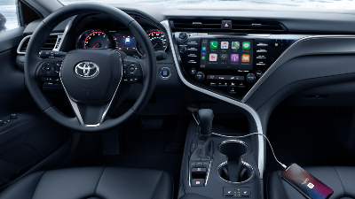 2020 Camry cockpit with cold weather package