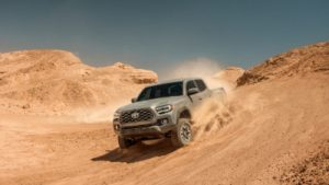 2020 Tacoma driving on sand track
