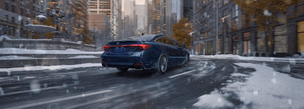 2021 Avalon AWD driving through snowy city streets