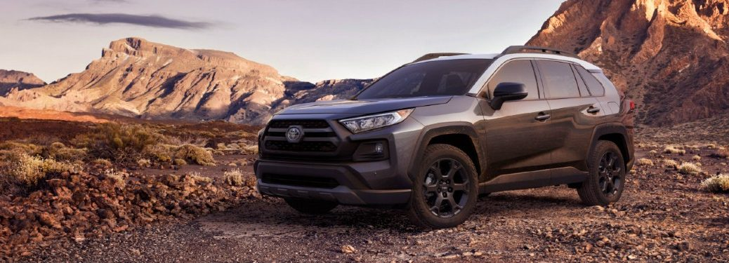 2020 RAV4 TRD Off-Road parked near desert rock formations