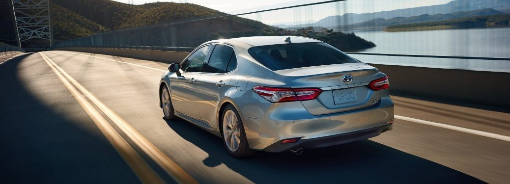 2020 Camry Hybrid driving across bridge