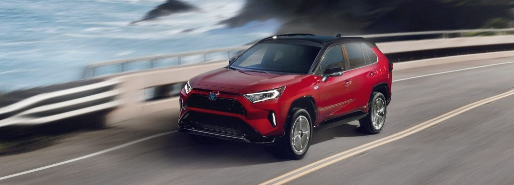 2021 RAV4 Prime driving on coastal road