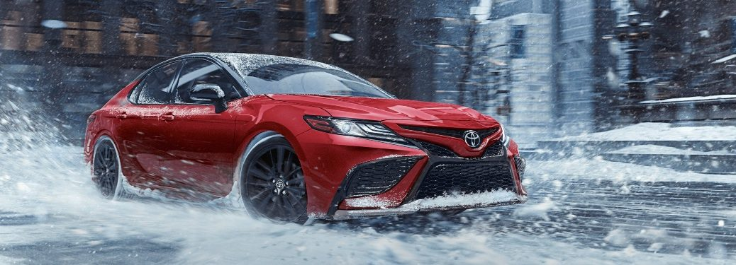 2021 Camry driving in the snow