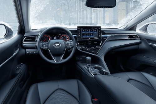 2021 Camry cabin with snow outside