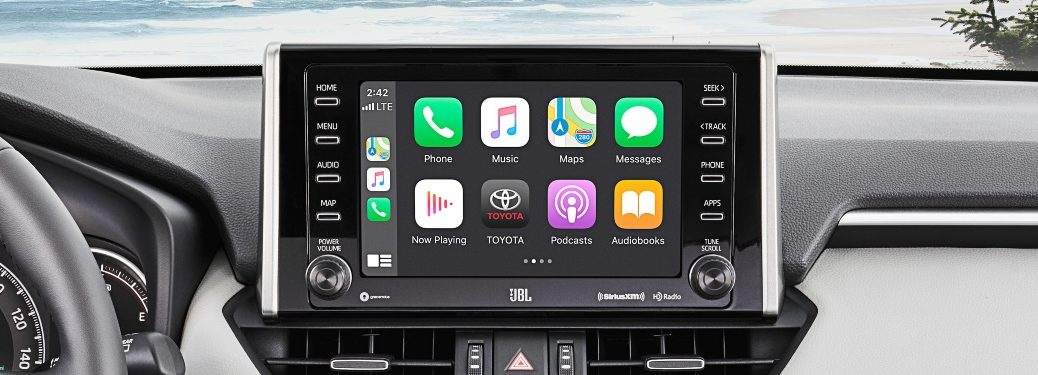 2021 RAV4 Apple CarPlay showcase