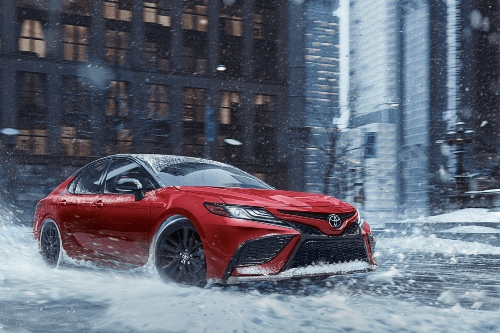 2021 Camry AWD driving in snow