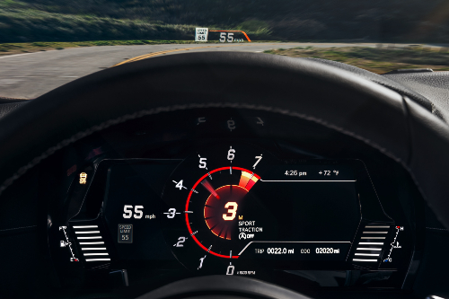 2021 Supra digital gauge display
