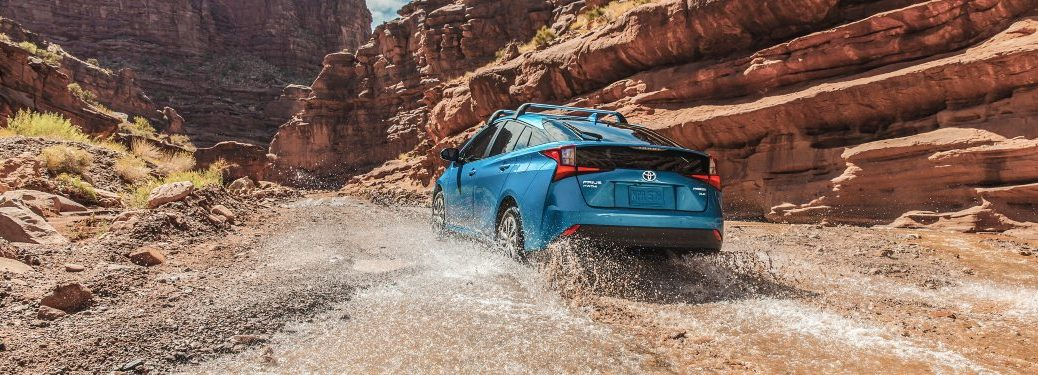 2021 Prius AWD-e driving in mud