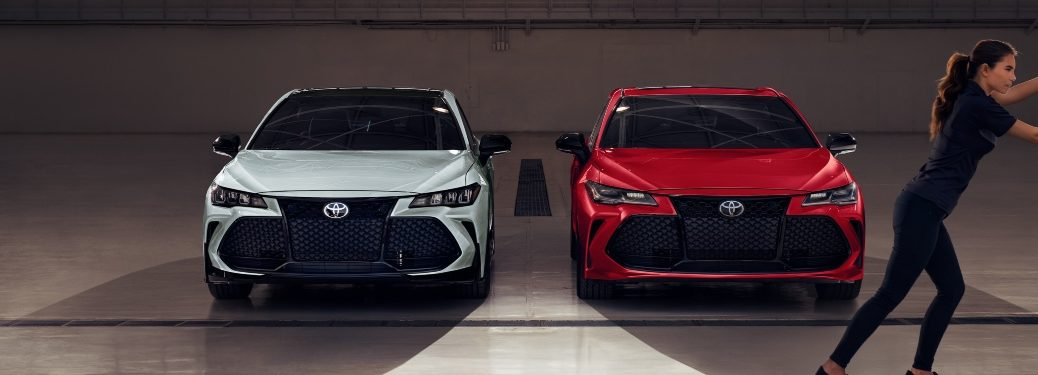2021 Avalon TRD and 2021 Avalon Touring side-by-side
