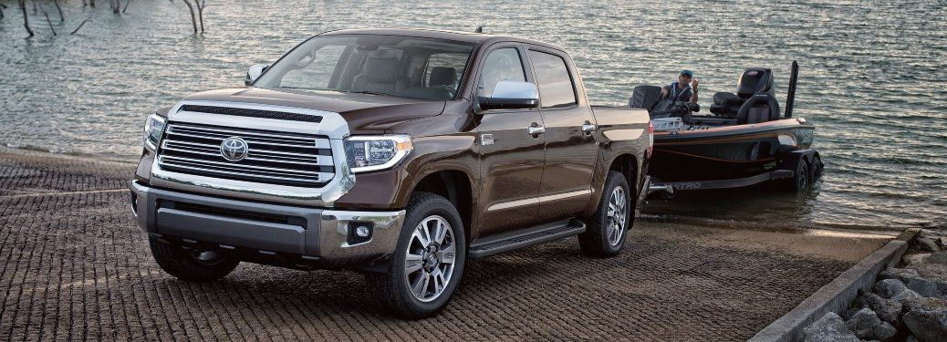 2021 Tundra hooked up to boat trailer