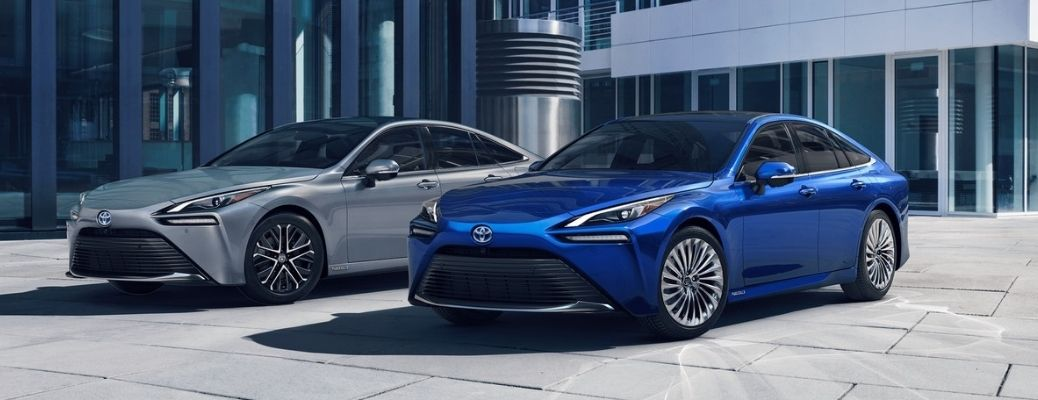 2021 Toyota Mirai parked in front of a building