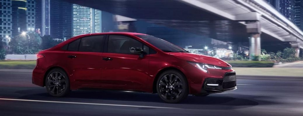 2022 Toyota Corolla Nightshade Edition in red color