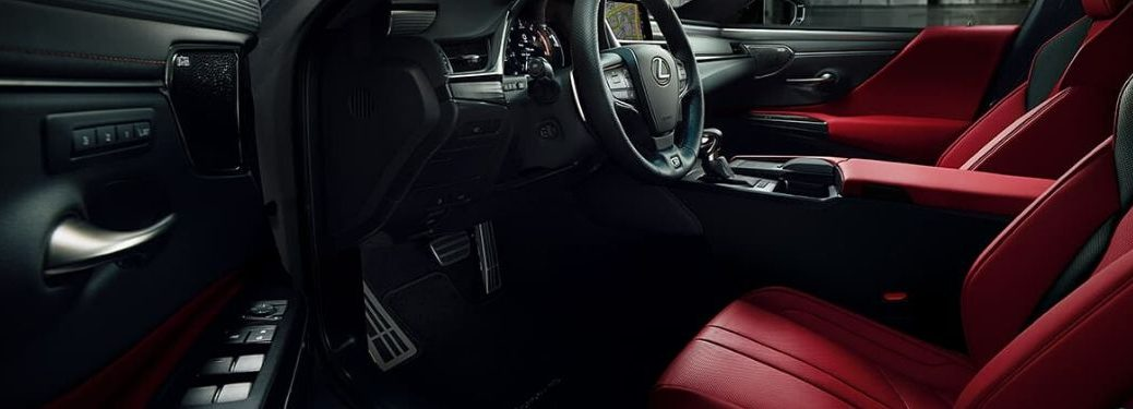Red and Black 2020 Lexus ES NuLuxe Front Interior
