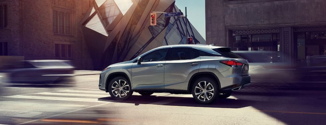 2020 Lexus RX driving in the city