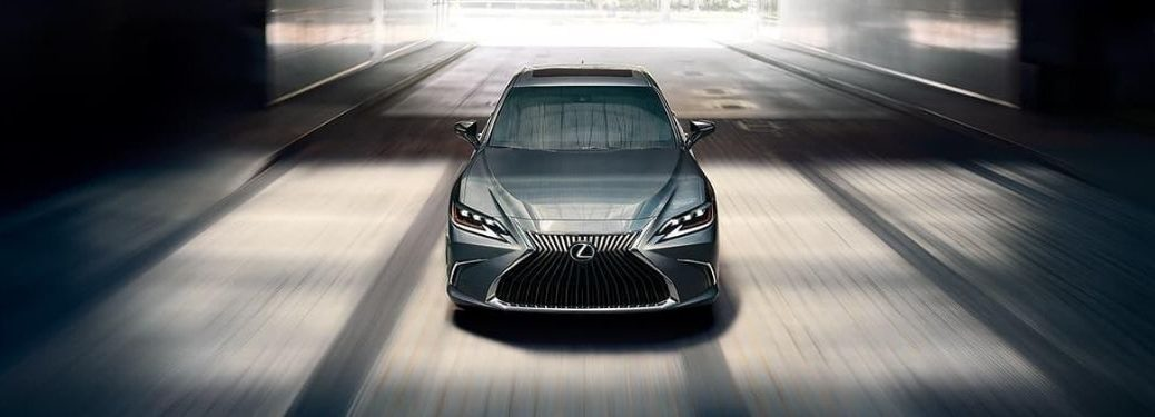 Gray 2020 Lexus ES Driving in a Tunnel