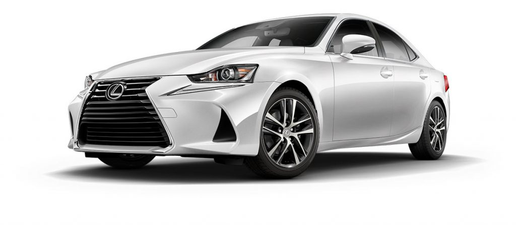Eminent White Pearl 2021 Lexus IS on White Background