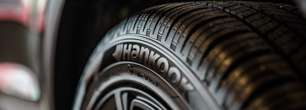 Close Up of a Hankook Tire