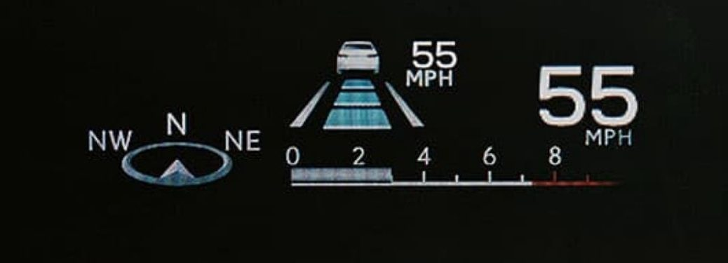 Close Up of 2021 Lexus LC 500 Head-Up Display Information