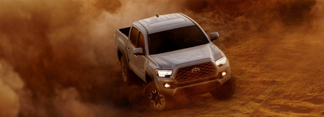 2020 Toyota Tacoma driving on the sand