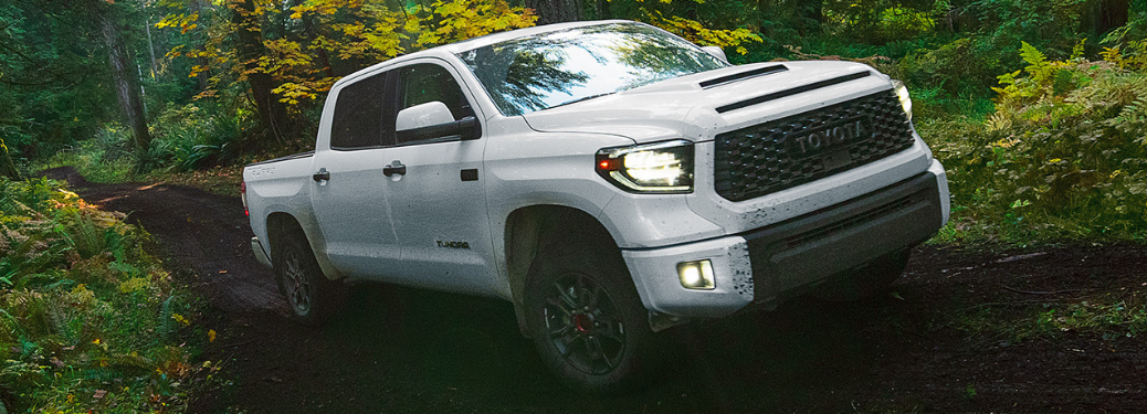 2020 Toyota Tundra driving in the woods