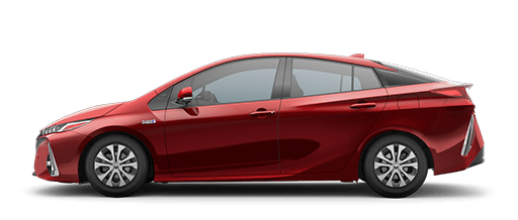 2020 Toyota Prius Prime Hybrid red side view