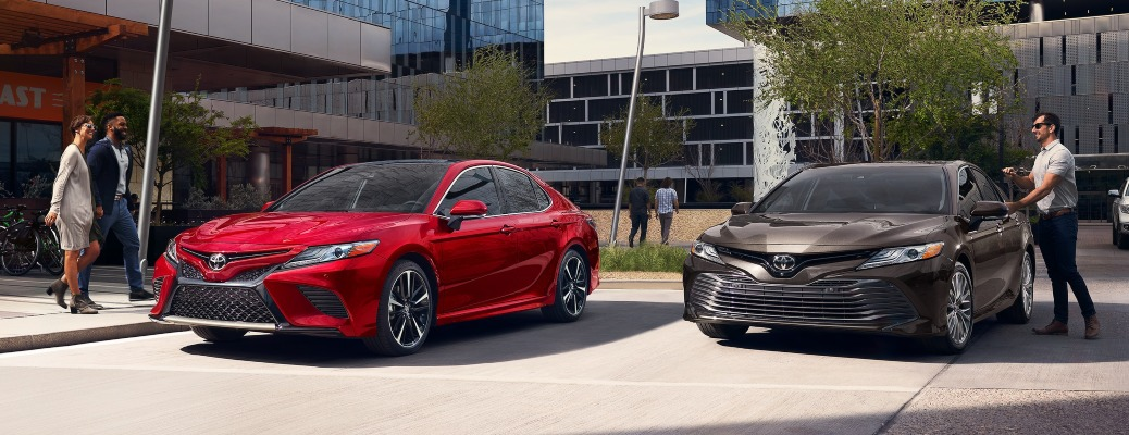 2020 Toyota Camry red and brown front view