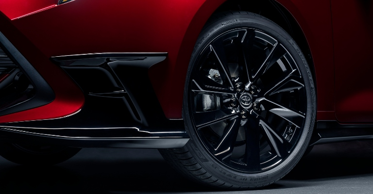 2021 Toyota Corolla Hatchback Special Edition black wheel close up
